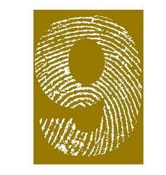Fingerprint Alphabet No 9 vector image