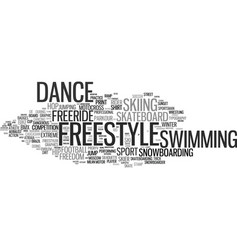 Freestyle word cloud concept vector
