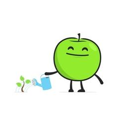 funny cartoon apple vector image