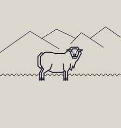 geometric of a sheep vector image