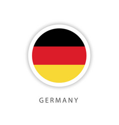 Germany circle flag template design vector