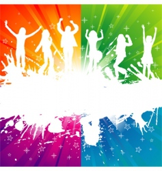 grunge party silhouette vector image vector image