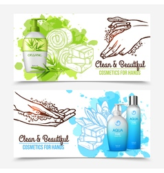 Hands washing banners vector