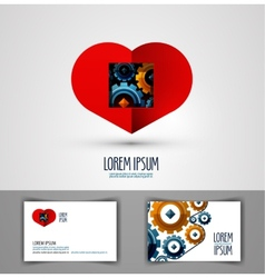 heart logo design template love or health icon vector image