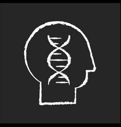 human biology chalk white icon on black background vector image