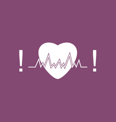 Icon heart with cardio vector