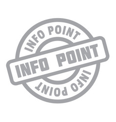 Info point rubber stamp vector