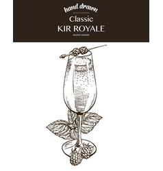 kir royale composition vector image