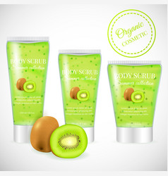 Kiwi scrub tube vector