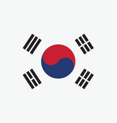 korea south flag for independence day and vector image