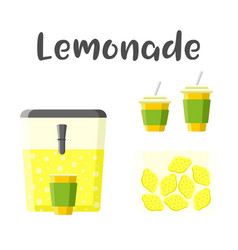 Lemonade set colorful constructor vector