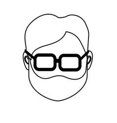 Line default avatar man to social user vector