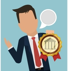 Man business manager banking bubble speech vector