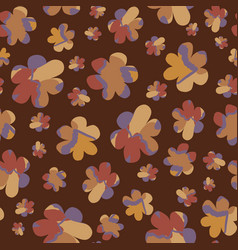 Moody naive daisy bloom seamless pattern tossed vector