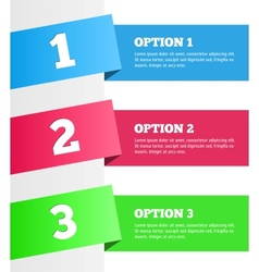 One two three - progress steps vector image