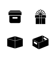 paper craft packages simple related icons vector image