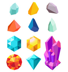 precious stones collection vector image