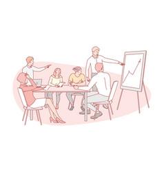 Presentation business teamwork training vector