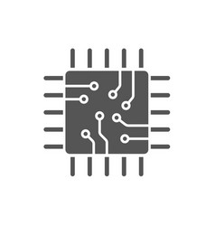 processor icon isolated on white background vector image