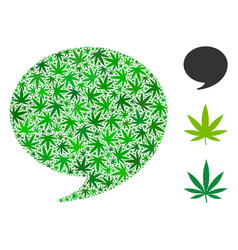 Quote mosaic of hemp leaves vector