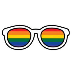 rainbow glasses vector image