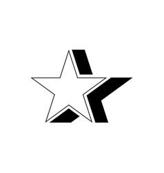 Retro star icon vector