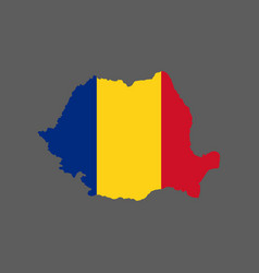 Romania flag and map vector