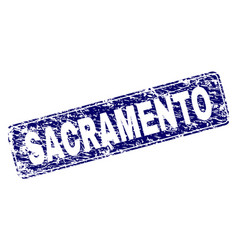 Scratched sacramento framed rounded rectangle vector