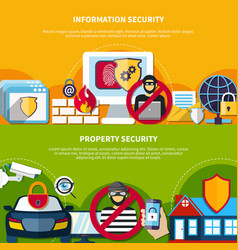 Security and safety banners set vector