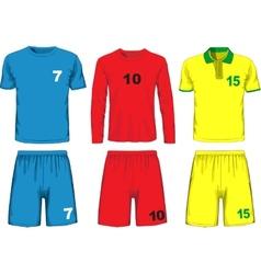Set different soccer uniform vector
