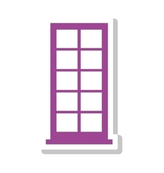 silhouette with office building in purple vector image