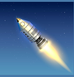 Space rocket launch creative art vector