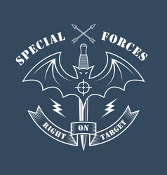 Special forces right on target vector image