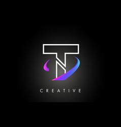 t trendy modern letter logo design monogram and vector image