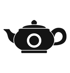 Teapot icon simple style vector image