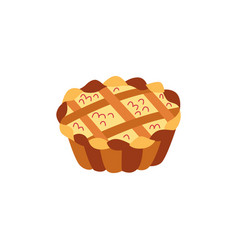 Thanksgiving pie flat isolated vector