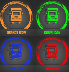 Transport truck icon Fashionable modern style In vector image
