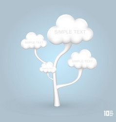 tree out clouds vector image
