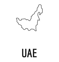 Uae map thin line simple vector