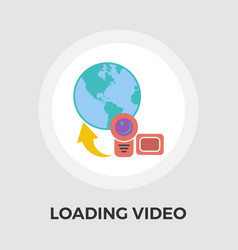 upload video flat icon vector image