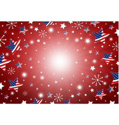 usa background design of america flag in star vector image