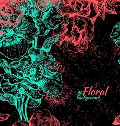 Vintage seamless floral pattern vector image