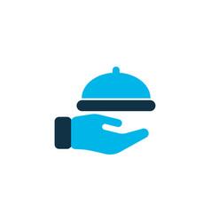 waiter icon colored symbol premium quality vector image