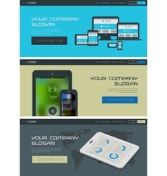 website header or banner template vector image