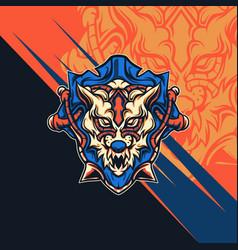 wolf zombie vector image