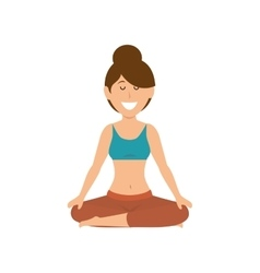 Woman practicing yoga icon vector image