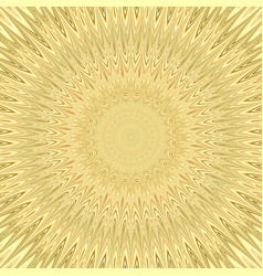 Yellow mandala sun explosion fractal background - vector