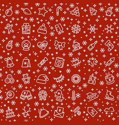 christmas seamless pattern with xmas vector image vector image