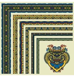 floral vintage frame design All components are vector image vector image