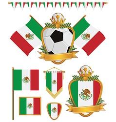 Mexico flags vector